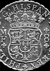 1739 Spanish dollar. Credit: Coinman62/Wikipedia