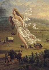 """Spirit of the Frontier"" by John Gast. Public domain, via Wikimedia"
