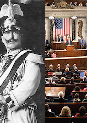 Kaiser Wilhelm II and the U.S. Congress.