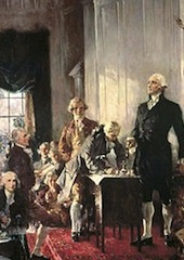 """Scene at the Signing of the Constitution of the United States"" by Howard Chandler Christy. (Wikipedia)"