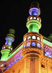 Charminar Mosque in India, illuminated for a UN conference in October 2012. (Credit: reddees - Shutterstock.com)